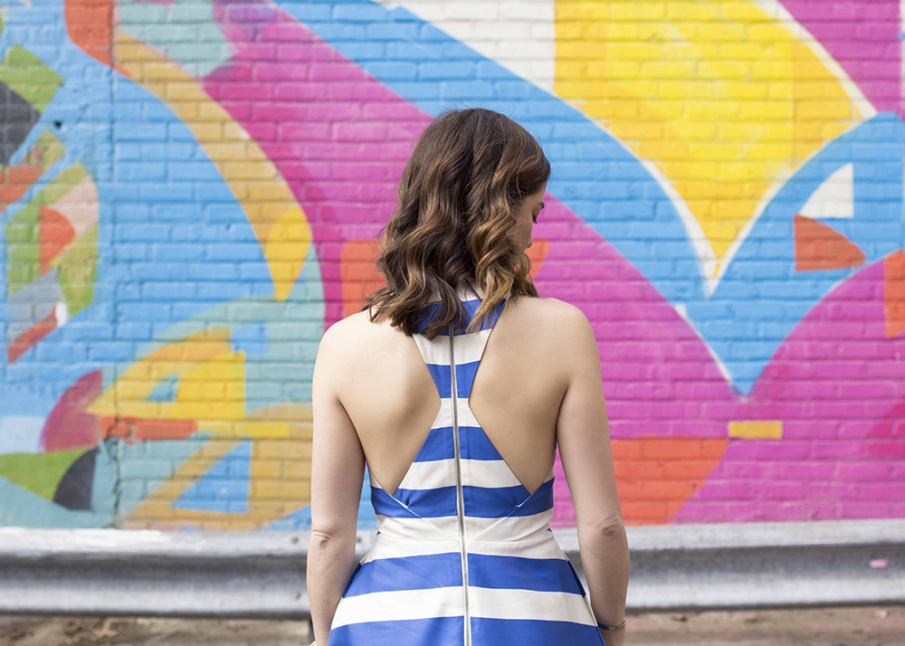 Marsha Striped Gown