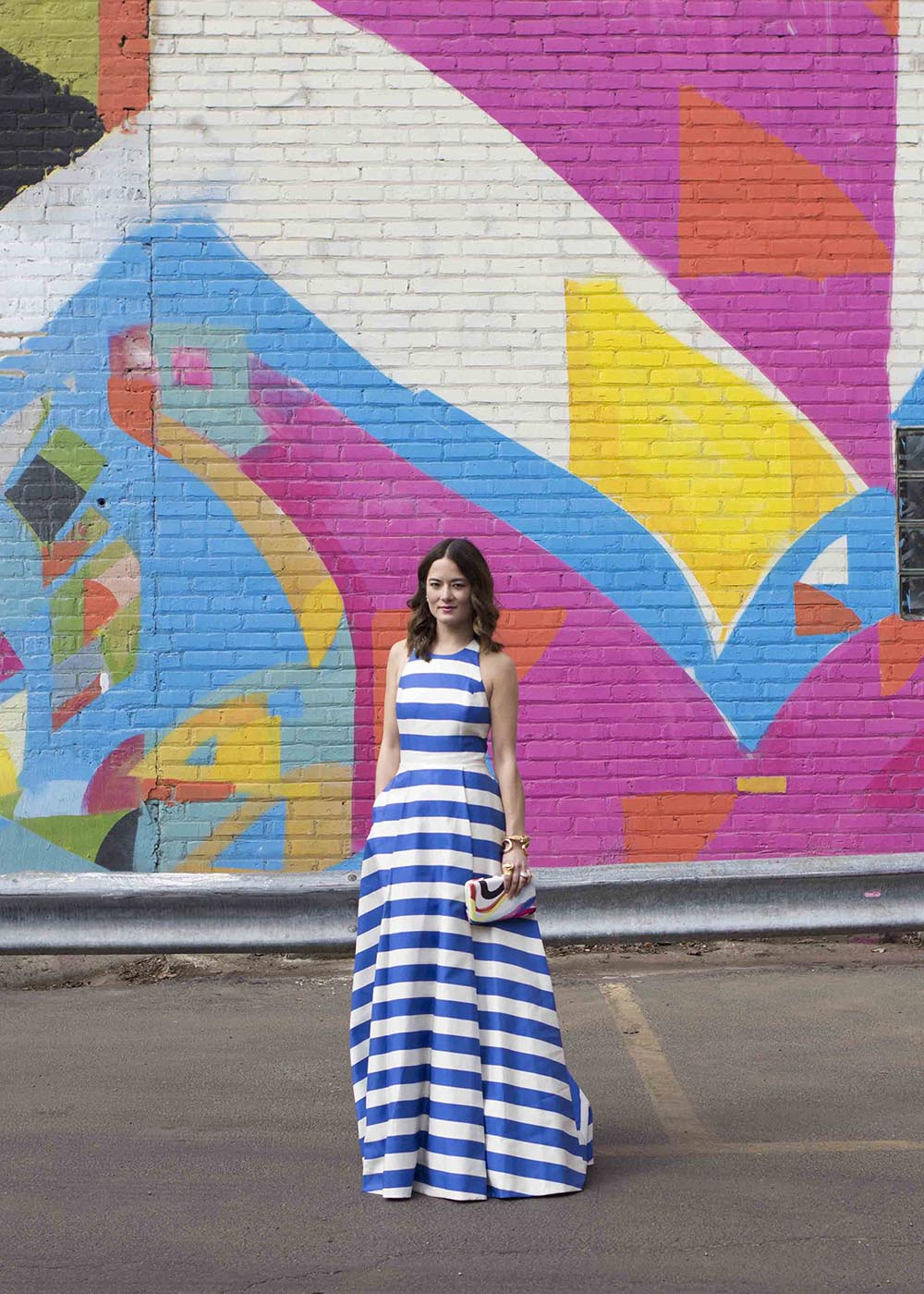 Alice Olivia Striped Gown