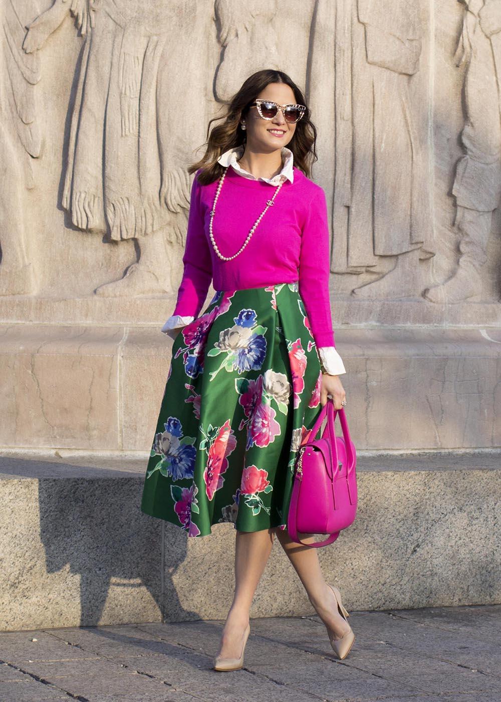 Kate Spade Lorella Floral Skirt