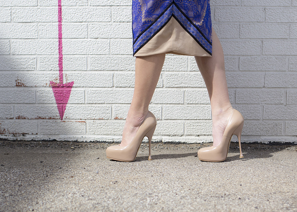 Brian Atwood Nude Fiona Pumps