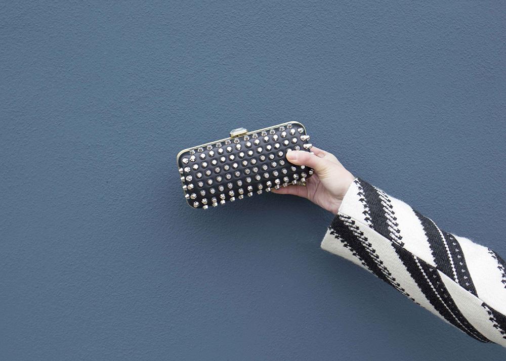 Zara Studded Clutch Minaudiere