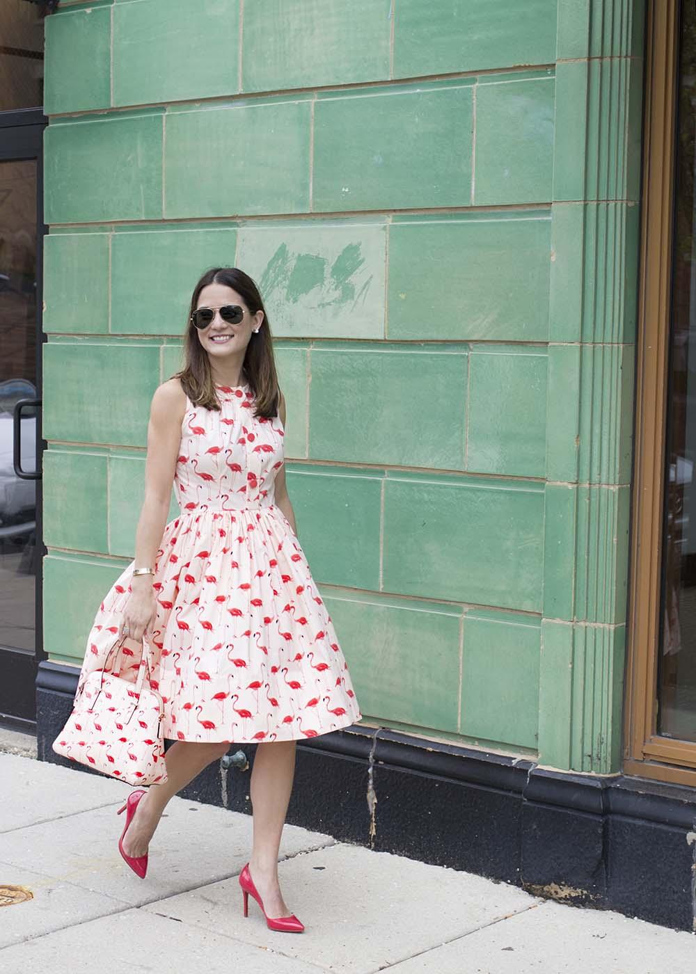 Kate Spade Flamingos Dress