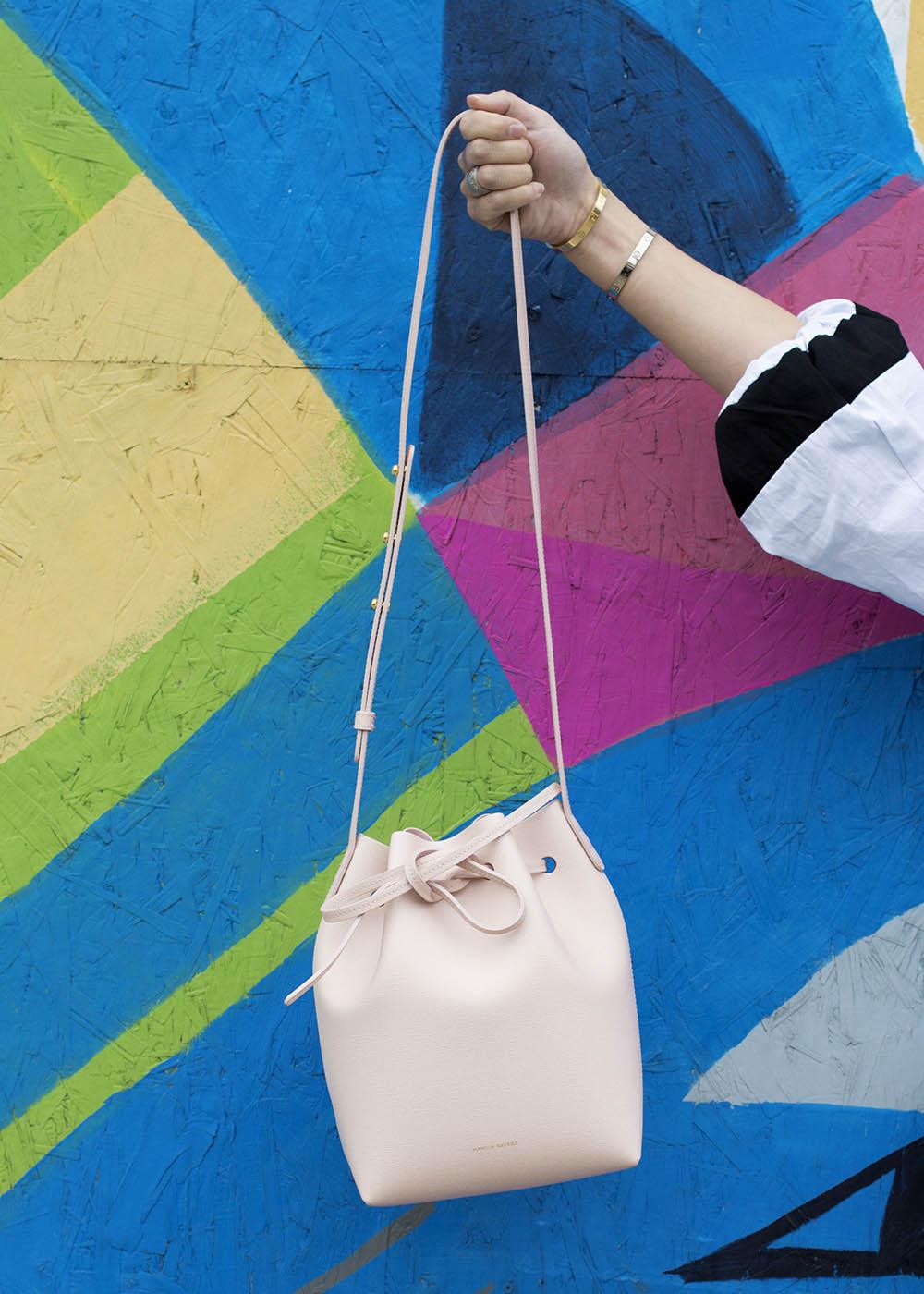 Mansur Gavriel Mini Bucket Bag Pink Rosa