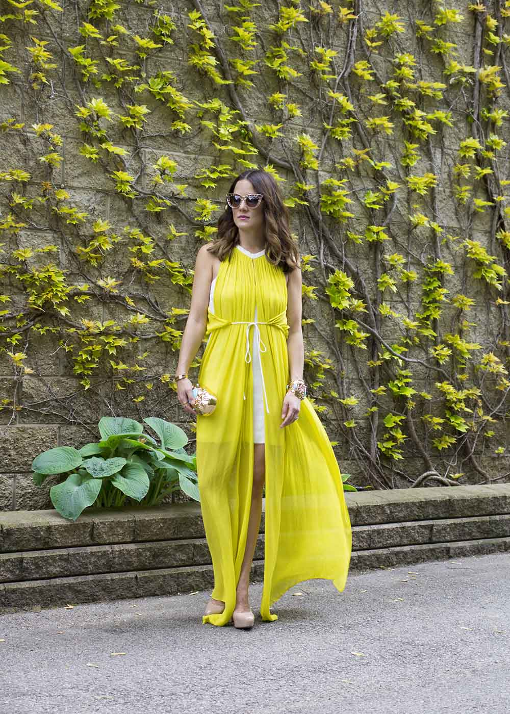 Sass & Bide Yellow Maxi Dress