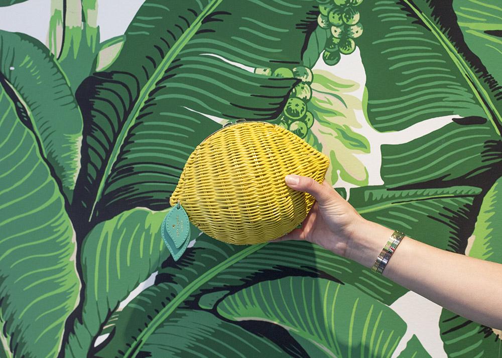Kate Spade Wicker Lemon Clutch