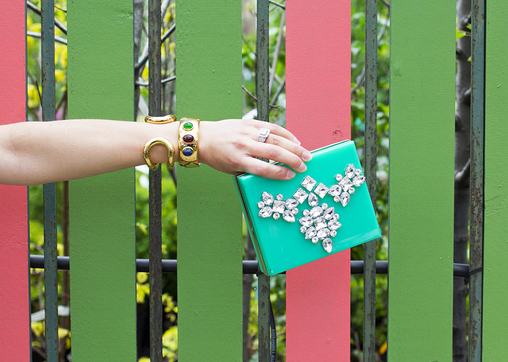 t+j Designs Bejeweled Clutch