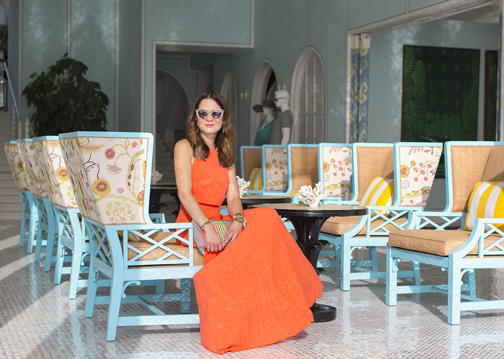 ASOS Pleated Crop Top Maxi Dress Orange