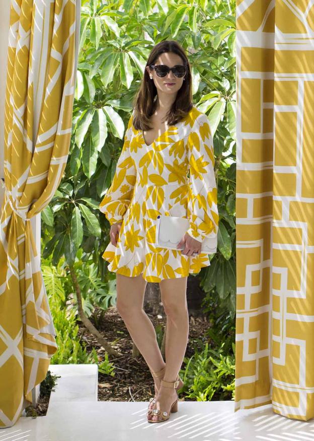 ASOS Yellow Floral Romper