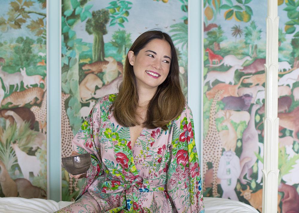 Pretty Plum Sugar Kimono Robe