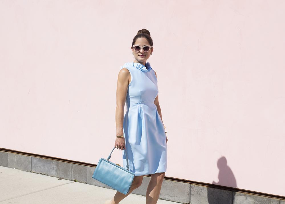 Blue Ruffle Dresses