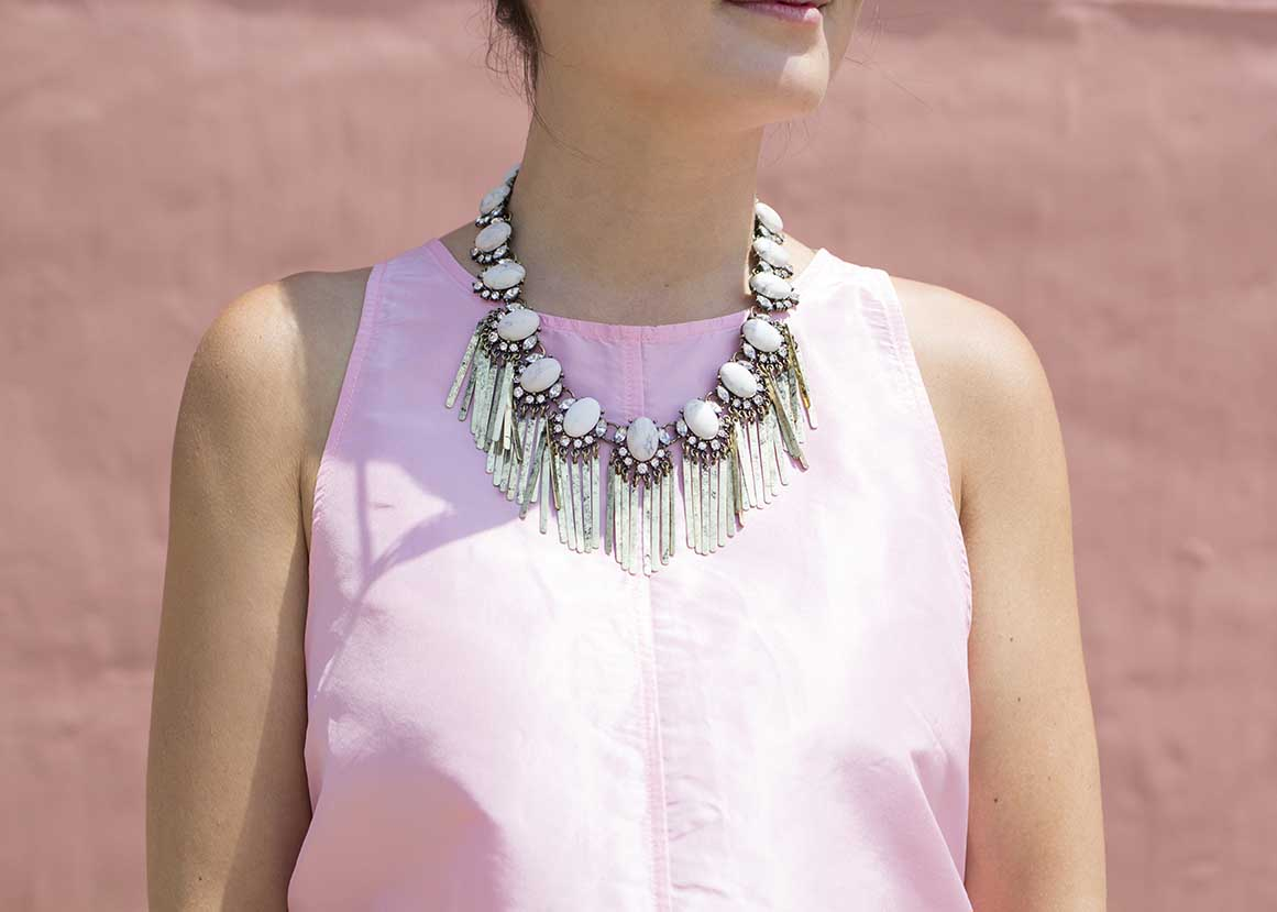 BaubleBar Showgirl Fringe Strand Necklace