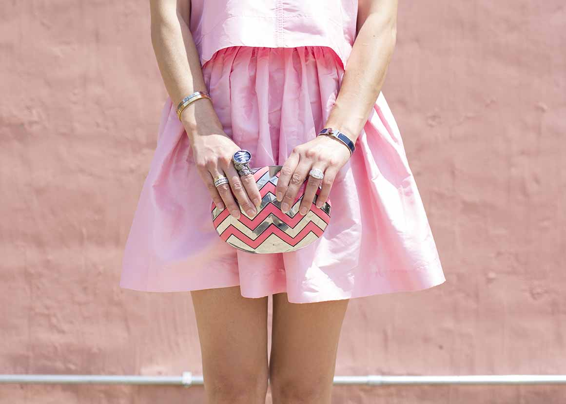 Party Skirts Pink Mini Crop