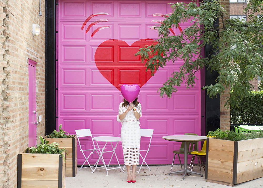 Pink Heart Wall