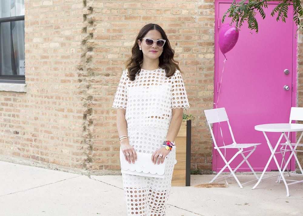 Yumi Kim White Eyelet Skirt Top