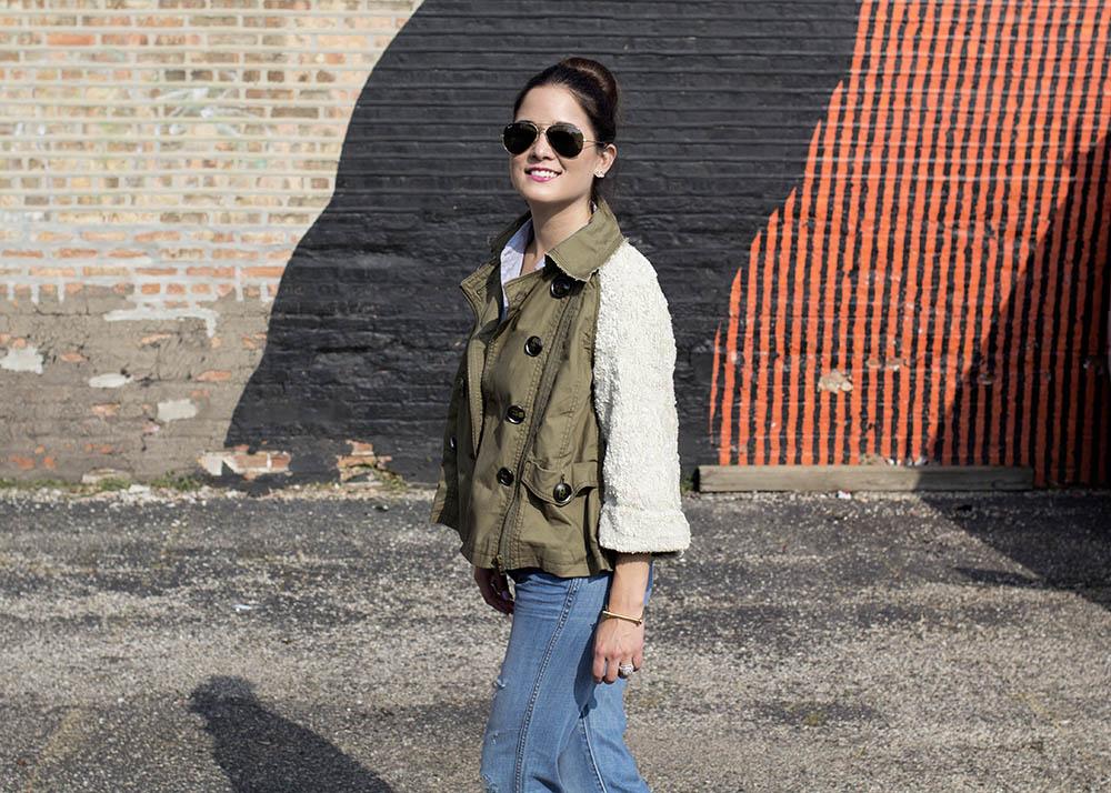 Sequin Sleeve Jacket