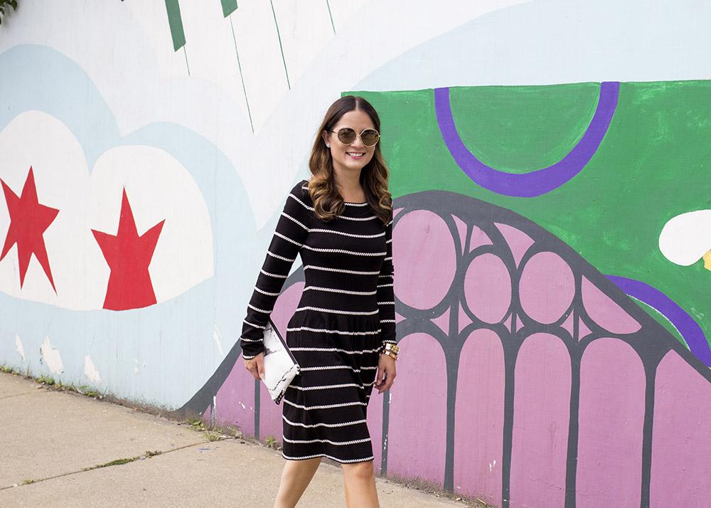 Black White Knit Dress