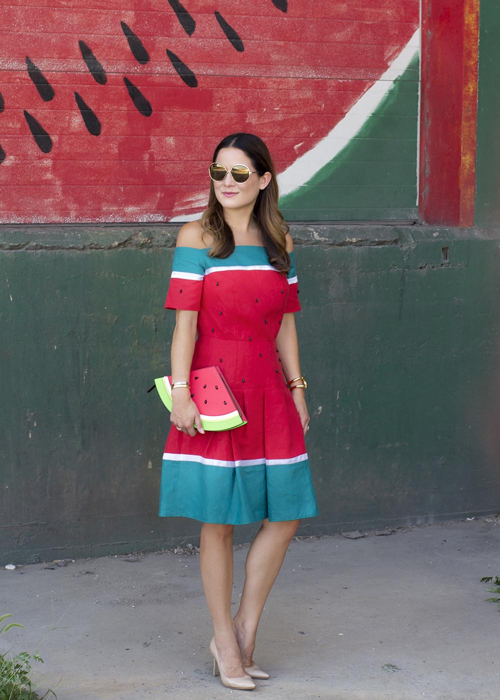 Red Green Watermelon Dress