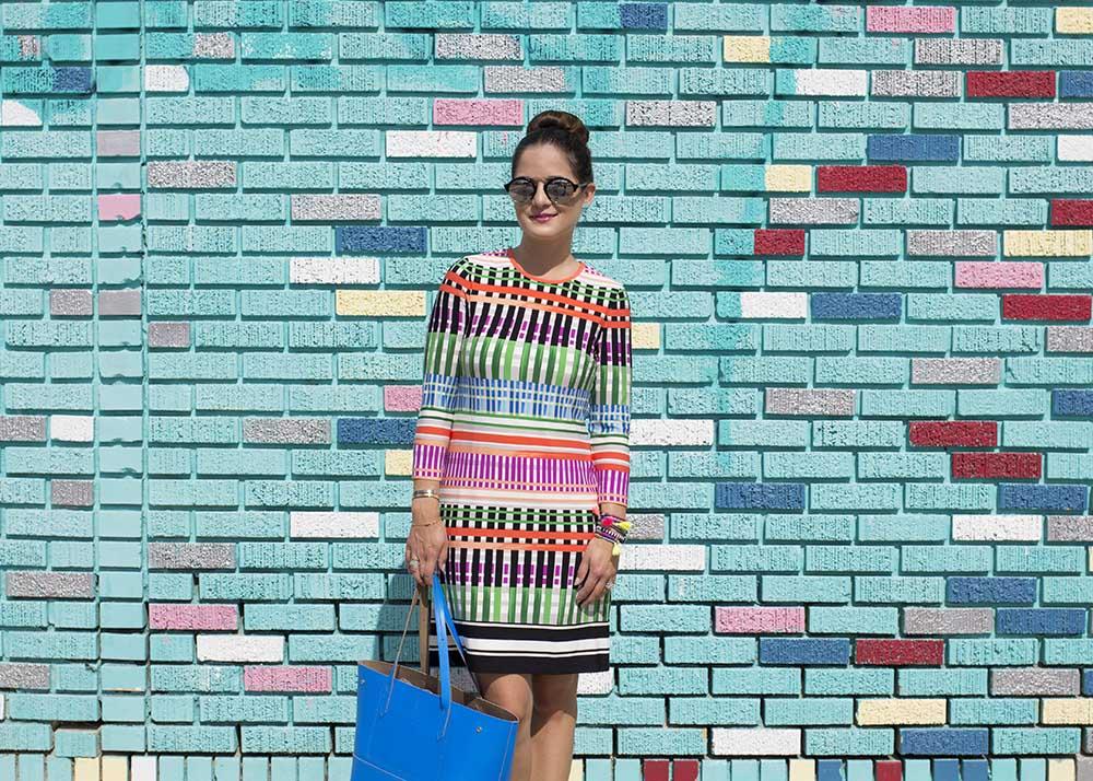 Multicolor Pattern Dress