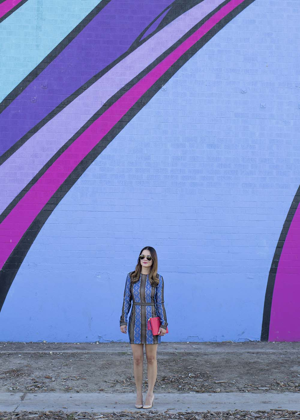 Los Angeles Colored Wall