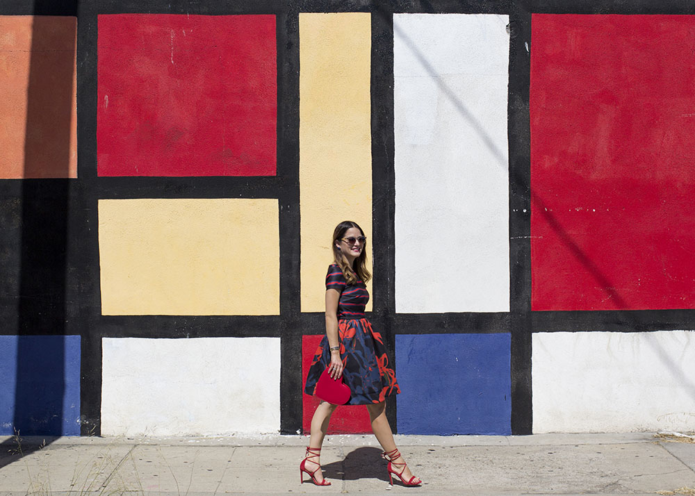 Los Angeles Color Block Street Art