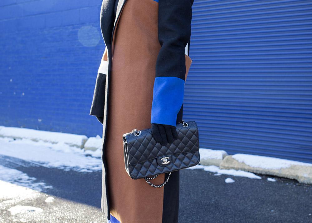Blue Black Tan Coat