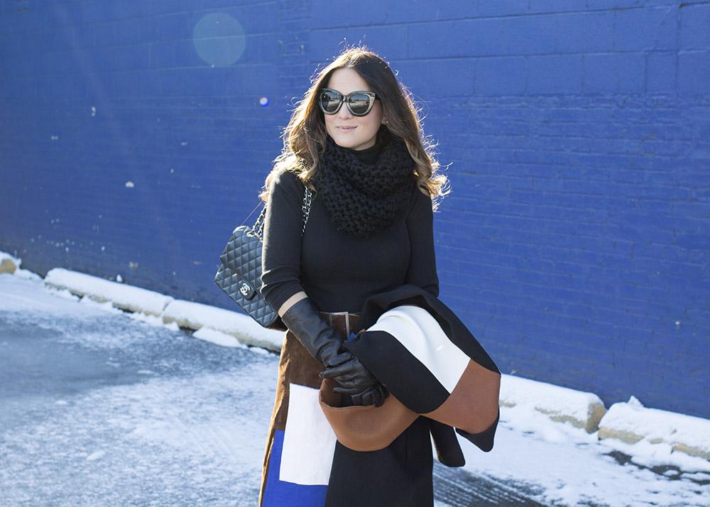 Black Turtleneck Long Gloves