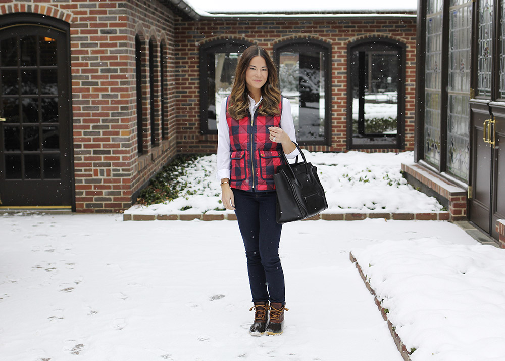 Red Plaid Quilted Vest