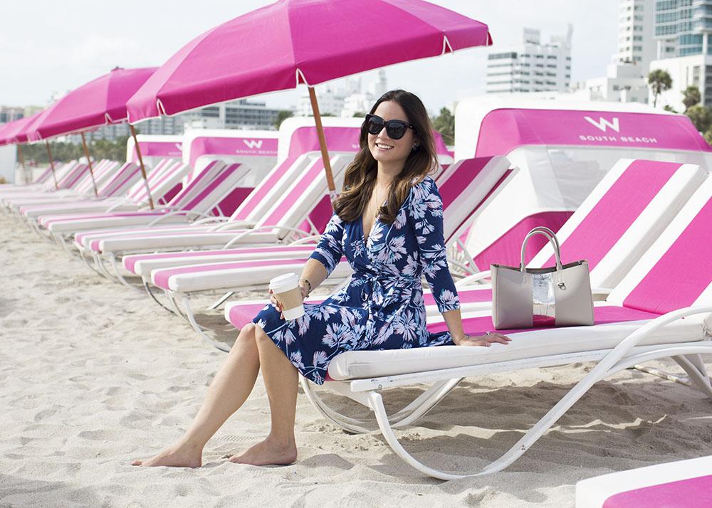 Miami Beach Pink Stripe