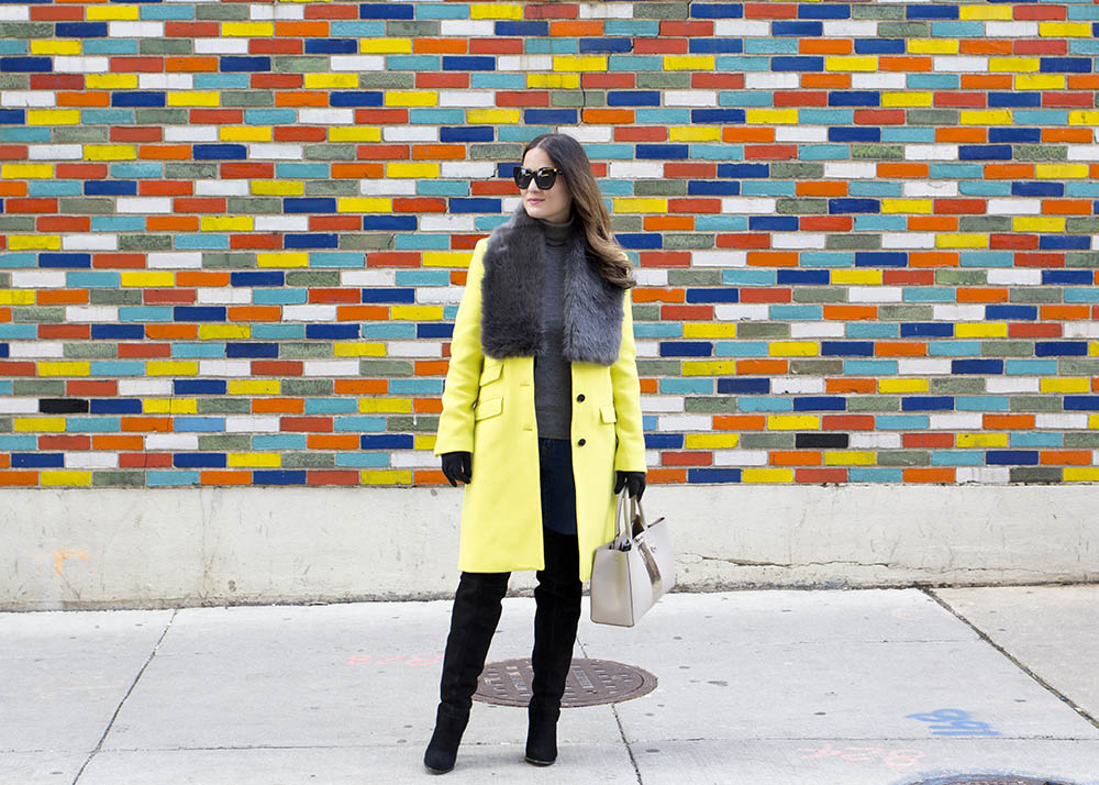 Chicago Colored Brick Wall