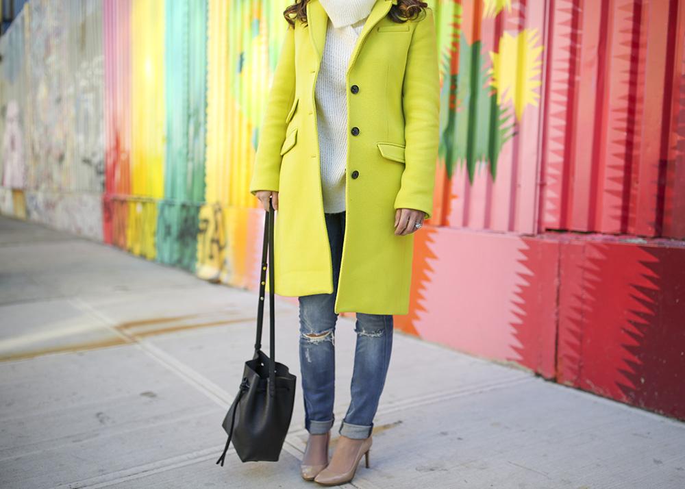 Citron Green Coat