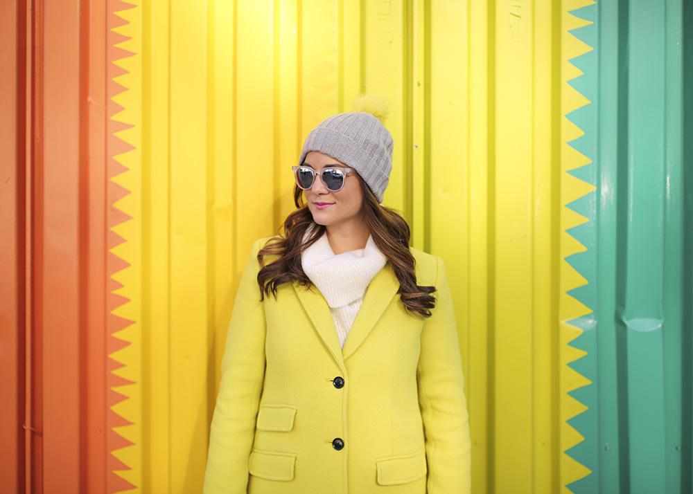 Yellow Puff Hat