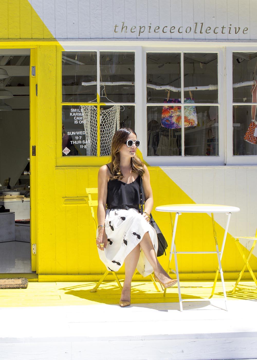 Venice Beach Yellow White Building