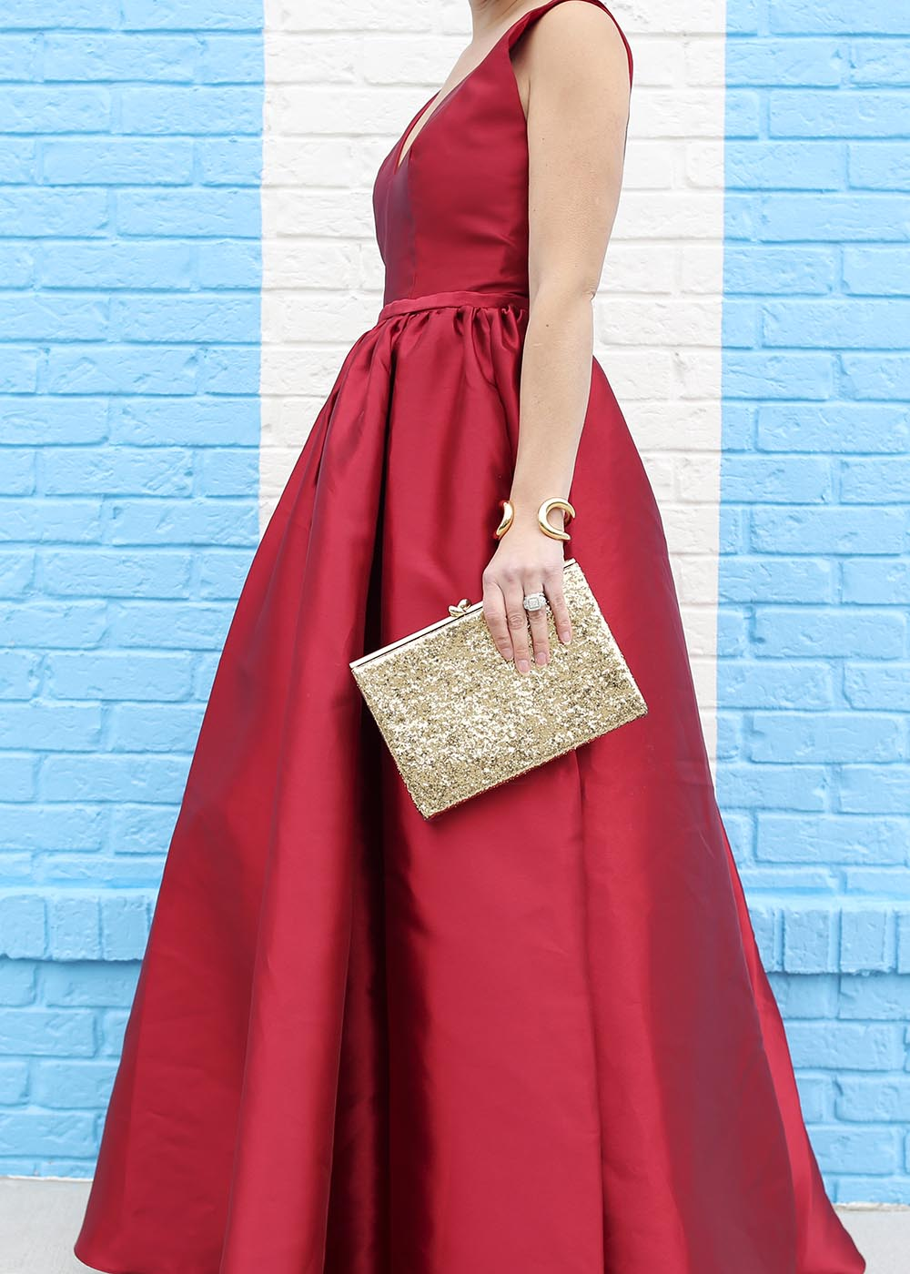 Formal Gold Glitter Clutch