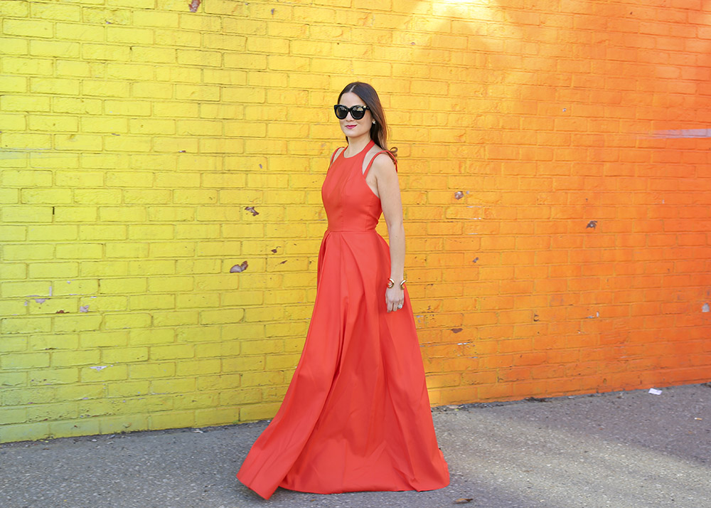 Alexis Contessa Dress Orange Maxi Gown