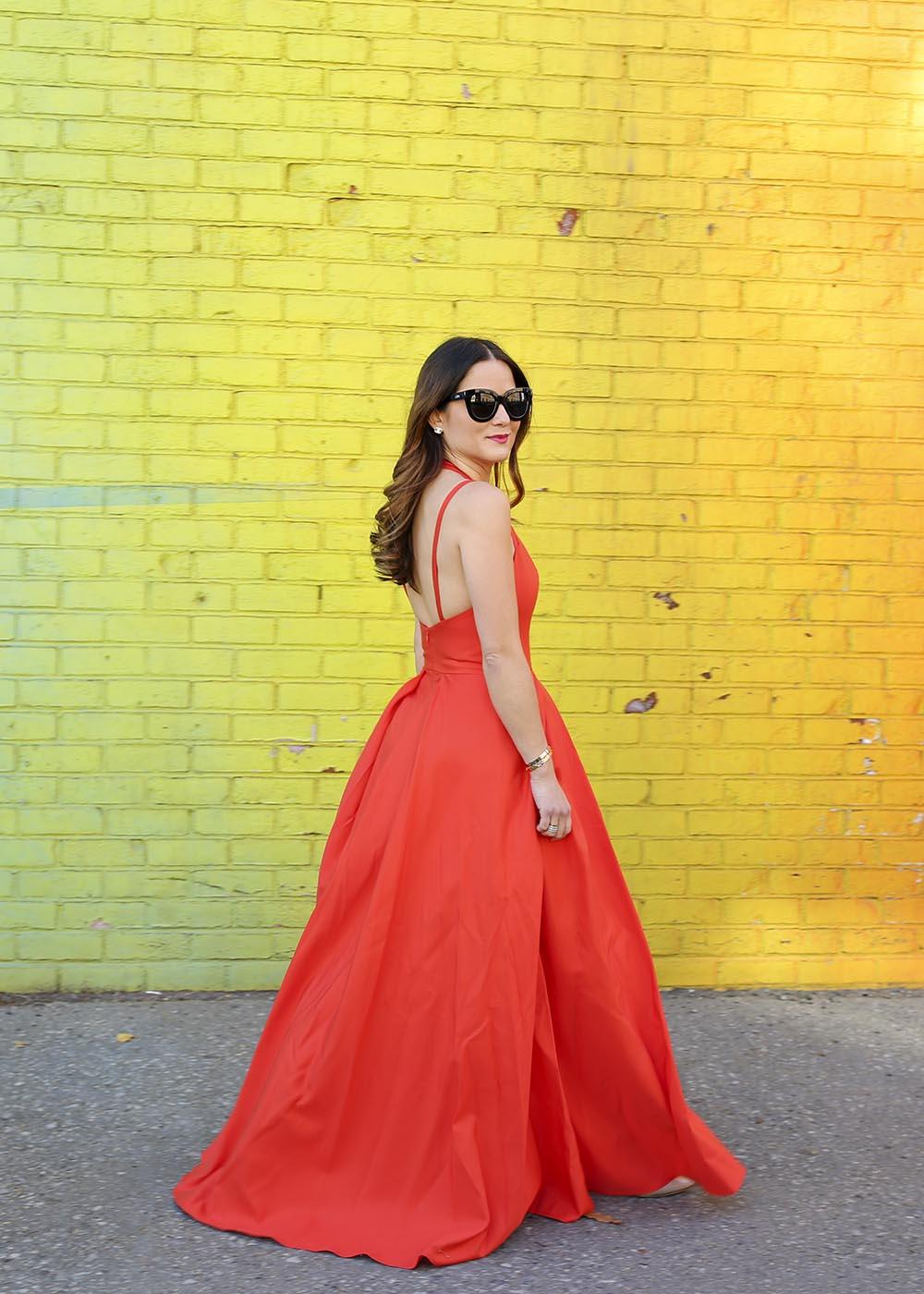 Alexis Orange Maxi Dress