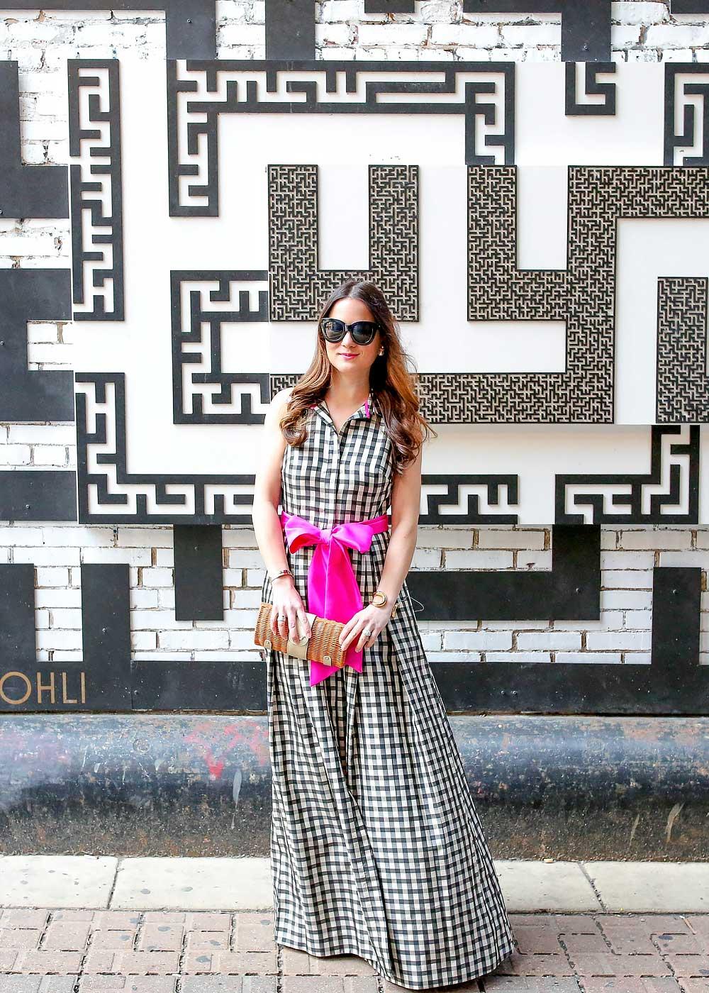 Maxi Dress Pink Bow Tie