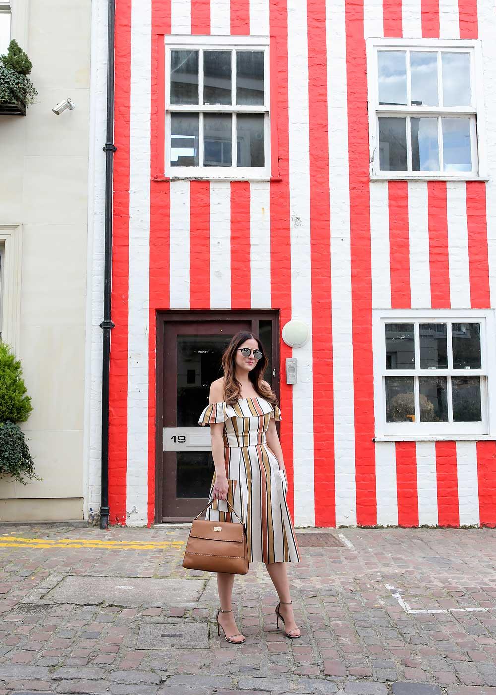 Kensington Red Striped House