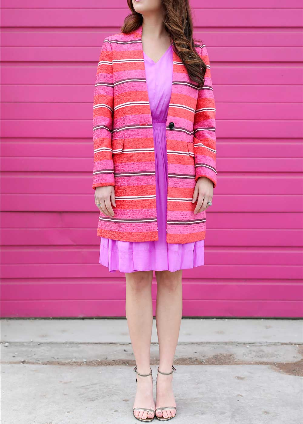 Pink Red Striped Jacket