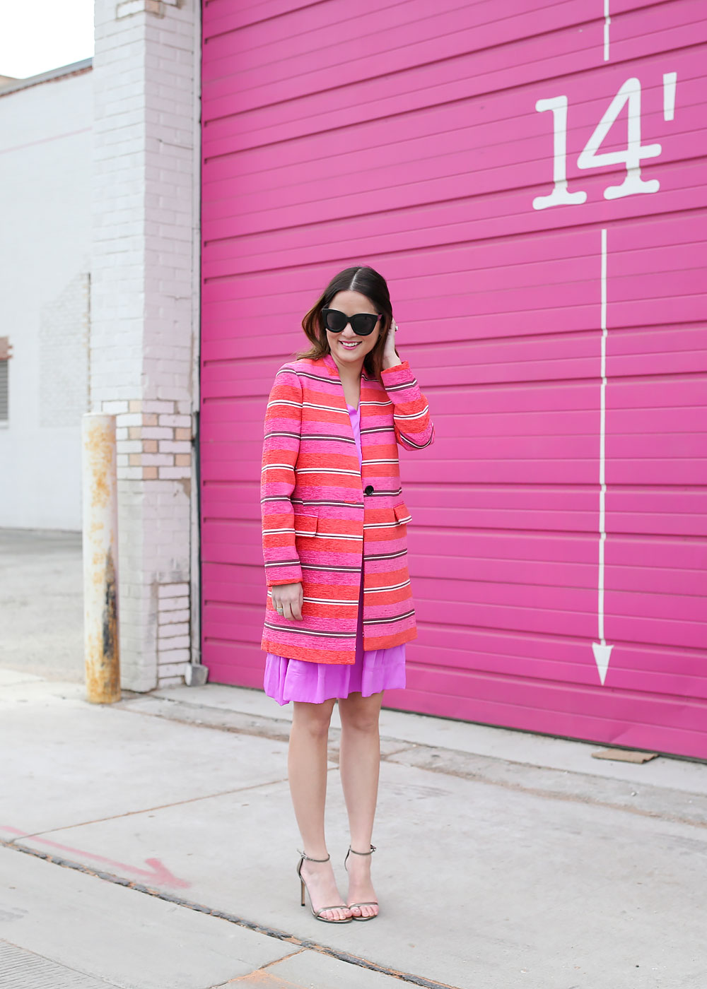 Colorful Striped Spring Coat
