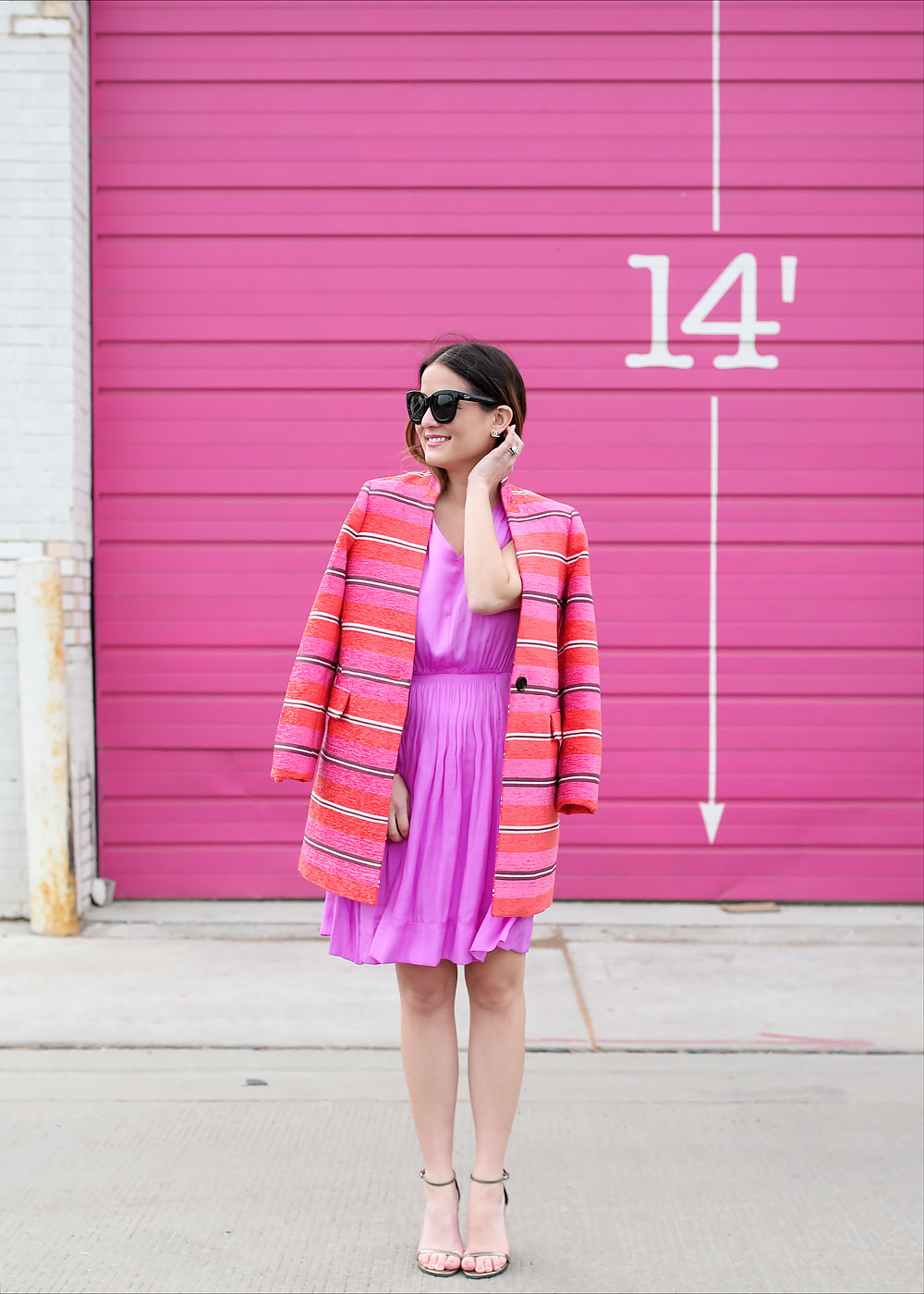 Pink Striped Coat