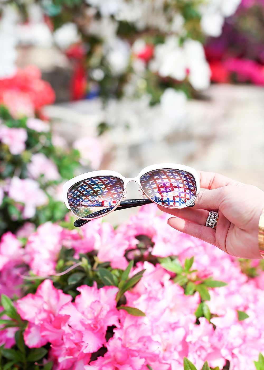 White Rimmed Sunglasses