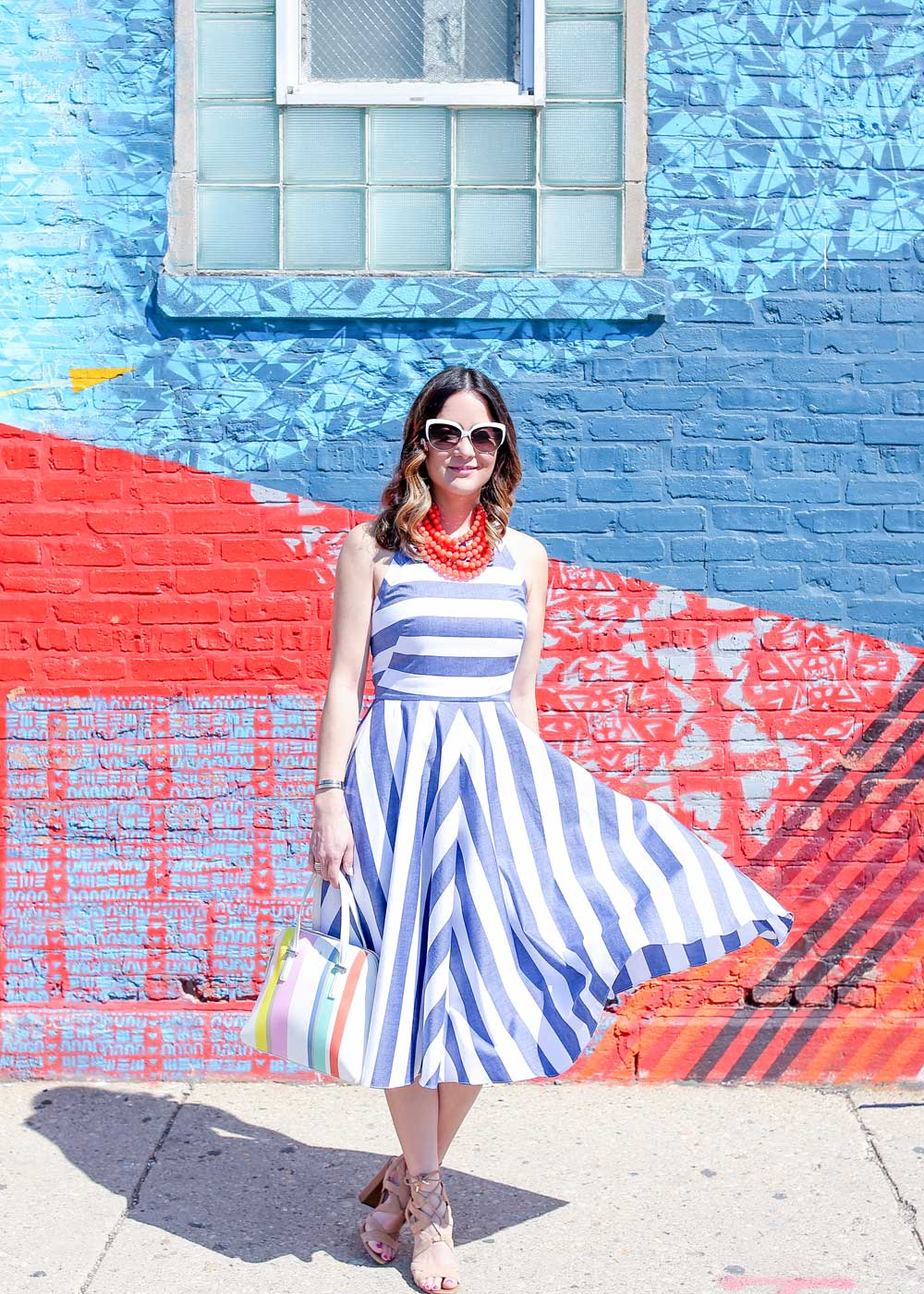 Fit Flare Stripe Dress