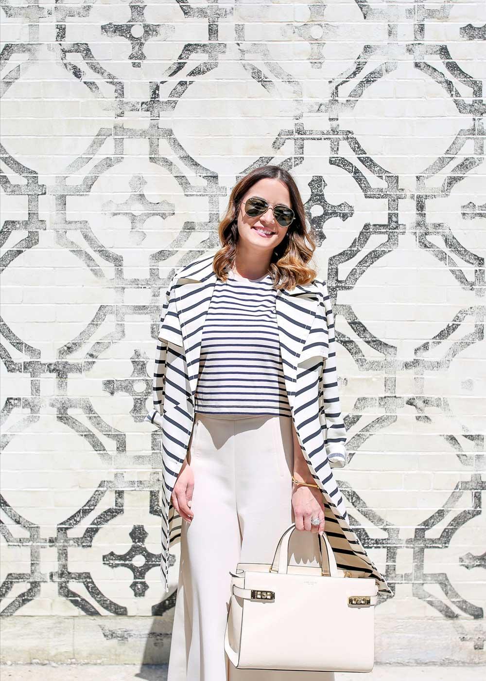 Striped Spring Coat