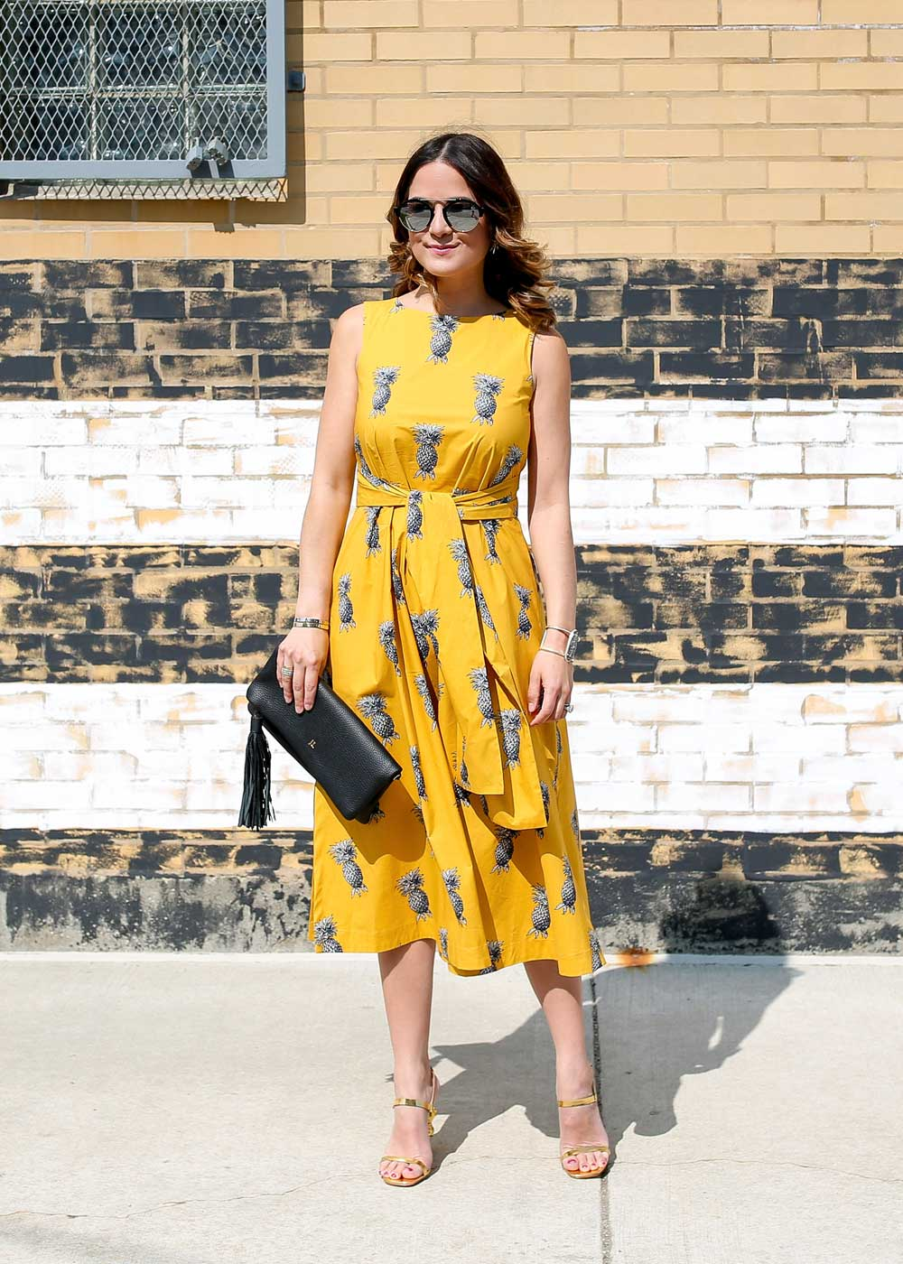 Ann Taylor Pineapple Dress