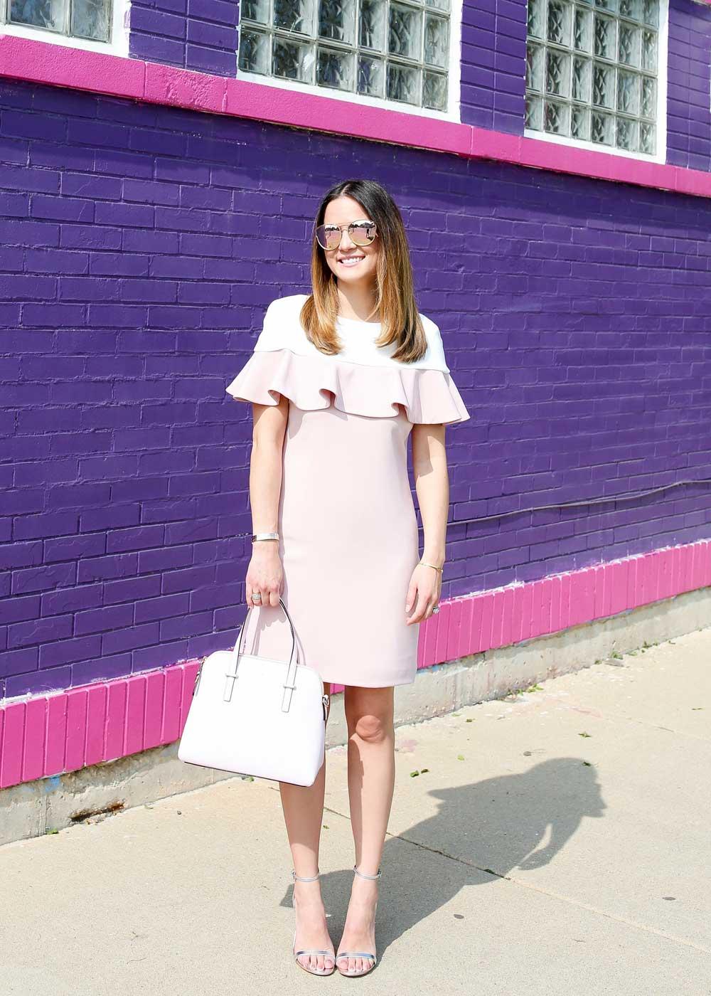 Pink Ruffle Detail Dress