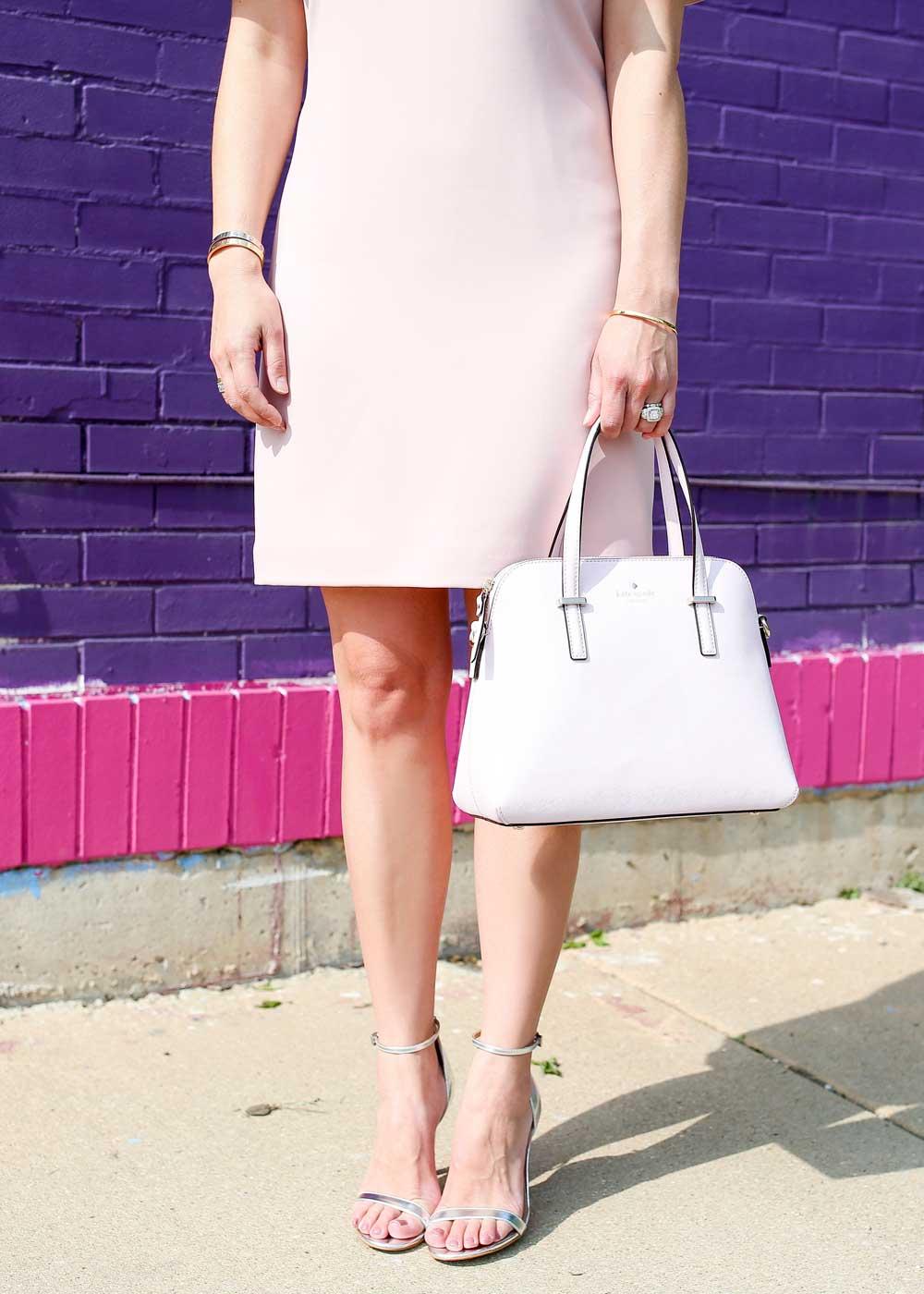 Pale pink Kate Spade Cedar Street Maise bag