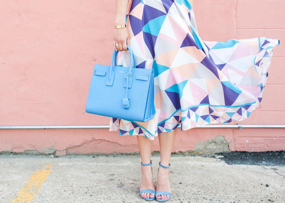 Blue Saint Laurent Bag