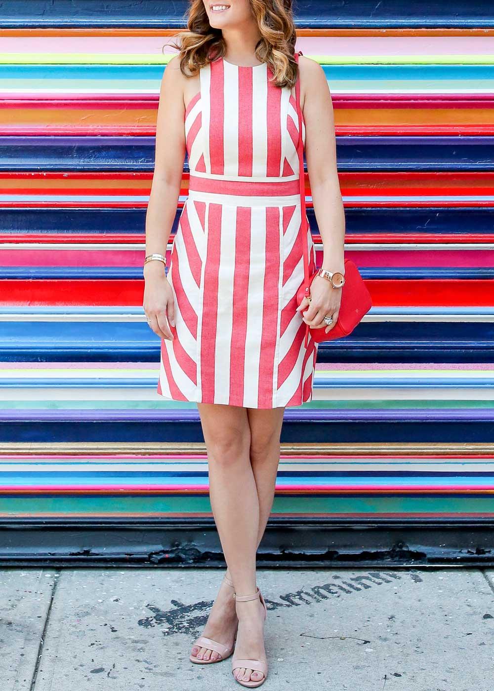 Milly Maya Dress Stripe