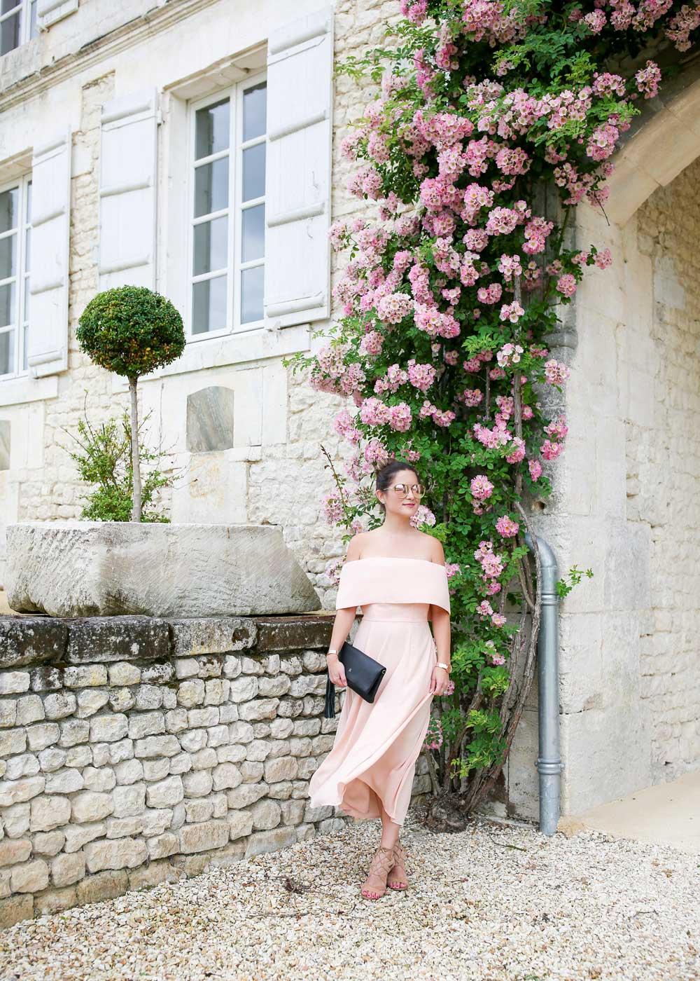 ASOS Pink Off the Shoulder Dress