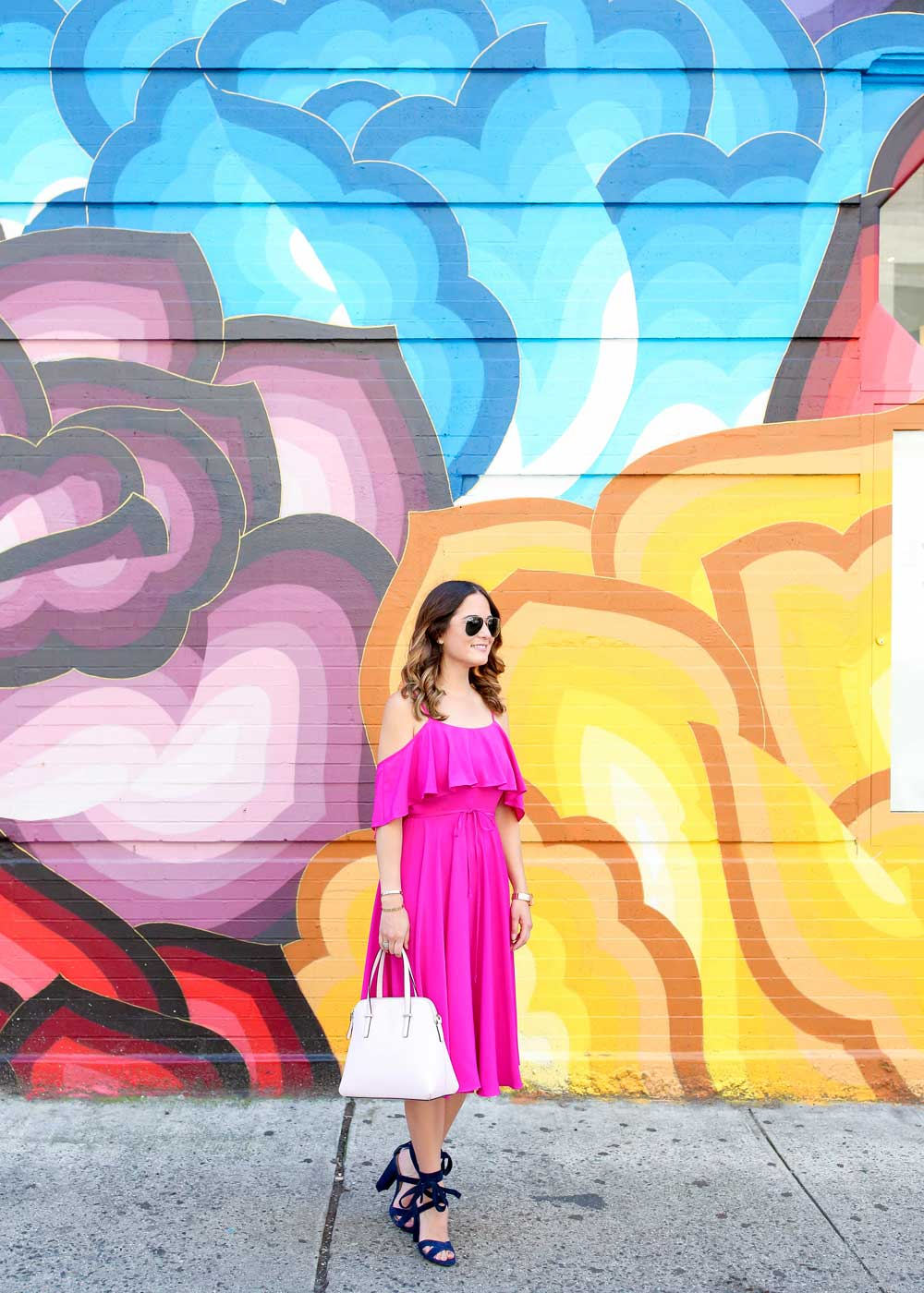 Multicolor Floral Mural New York City